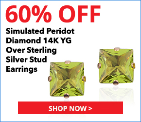 Simulated Peridot Diamond 14K YG Over Sterling Silver Stud Earrings TGW 0.75 cts. 3076632