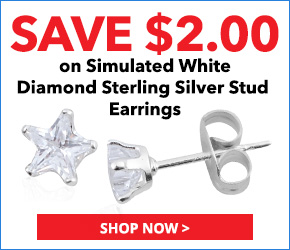 Simulated White Diamond Sterling Silver Stud Earrings TGW 1.00 cts. 3076638