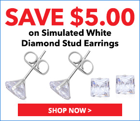 14K WG Simulated White Diamond Stud Earrings TGW 0.75 cts. 3077645