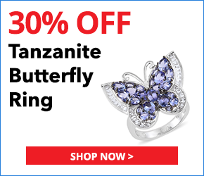 Tanzanite, White Topaz Platinum Over Sterling Silver Butterfly Ring (Size 8.0) TGW 5.46 cts.3076778