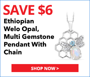 Ethiopian Welo Opal, Multi Gemstone Platinum Over Sterling Silver Pendant With Chain (20 in) TGW 1.17 cts.3099671