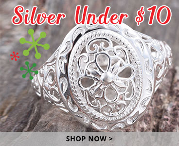 Silver holiday gifts under $10.