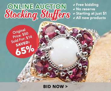 Find online auction holiday stocking stuffers.