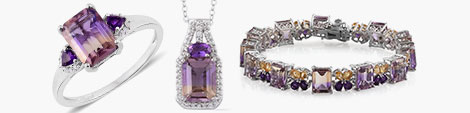 Fall for Anahi ametrine ring, pendant with chain and bracelet at Shop LC.