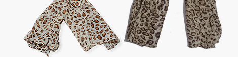 Light and dark gray animal print scarves for you.