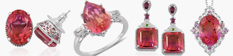 Arizona sunset quartz range of earrings, ring and pendant with chain at Shop LC.