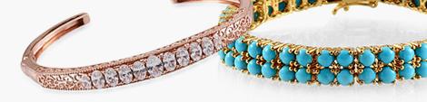 Two gemstone bracelets for women.