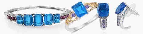 Fall for Caribbean quartz bangle, ring and earrings for women at Shop LC.