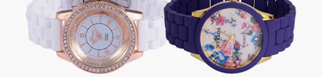 Blue and white ceramic watches for women.