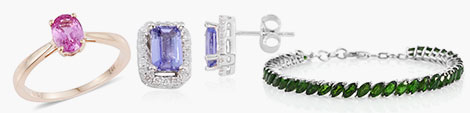 solitaire ring, stud earrings and tennis bracelet from the classic collection at Shop LC.