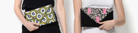 Two designer evening clutches for women.