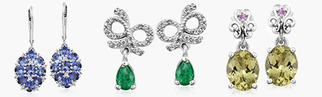 Two pairs of fashion drop earrings.