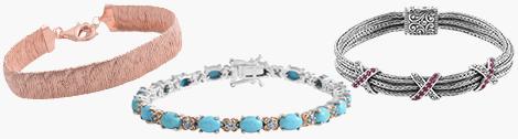 Two stylish gemstone fashion bracelets.