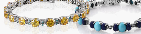 Two stylish gemstone fashion bracelets.