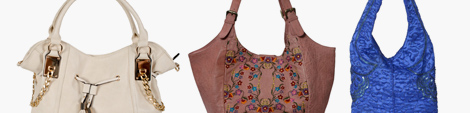 Three designer hobo handbags for women.