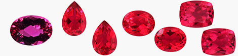 View loose rubellite gemstones in oval, pear and cushion shapes at Shop LC.