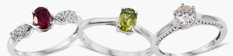 View ruby, peridot and moissanite solitaire rings at Shop LC.