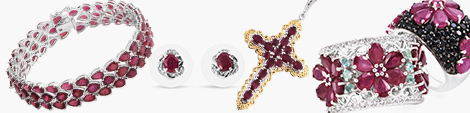 View ruby bracelet, earrings, pendant and rings at Shop LC.