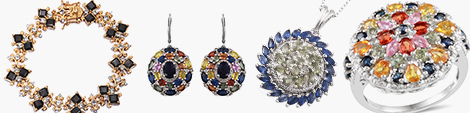 Explore colorful sapphire bracelet, earrings, pendant and ring at Shop LC.