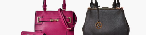 Two designer satchel handbags for women.