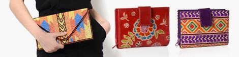 Three small handbags for women.