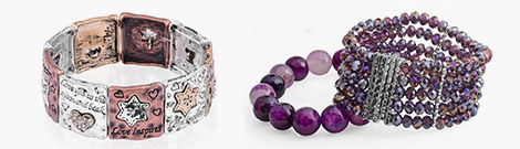Two bold and stretchable bracelets at Shop LC.