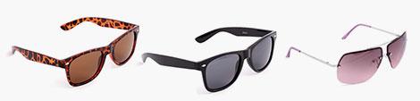 A range of sunglasses for men and women.