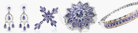 Peruse tanzanite earrings, pendants, rings and bangles at Shop LC.