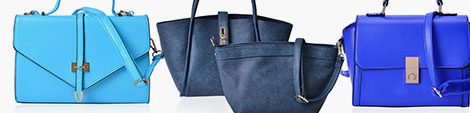 Blue handbags for women at Shop LC.