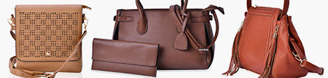 Brown handbags for women at Shop LC.