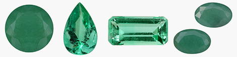 Find round, pear, octagon and oval-shaped emerald loose stones at Shop LC.