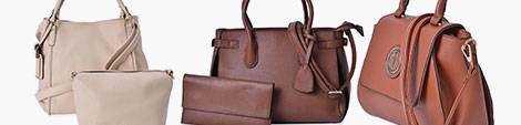Faux Leather handbags for women.