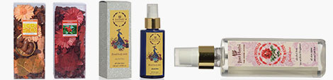Three sandal, rose and peacock fragrance at Shop LC.