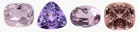 View cushion, trillion, oval and square shaped loose kunzite gemstones at Shop LC.