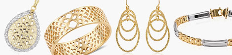 Explore stylish metal pendant, openwork bangle, bracelet and dangling earrings at Shop LC.