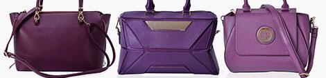 Purple handbags for women at Shop LC.