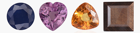Explore loose sapphire gemstones in blue, pink, yellow and silver colors.