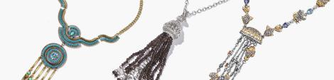 Three tassel necklaces.