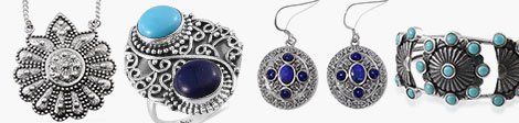 Discover the styles of India for pendants, rings, earrings and cuff bangles at Shop LC.