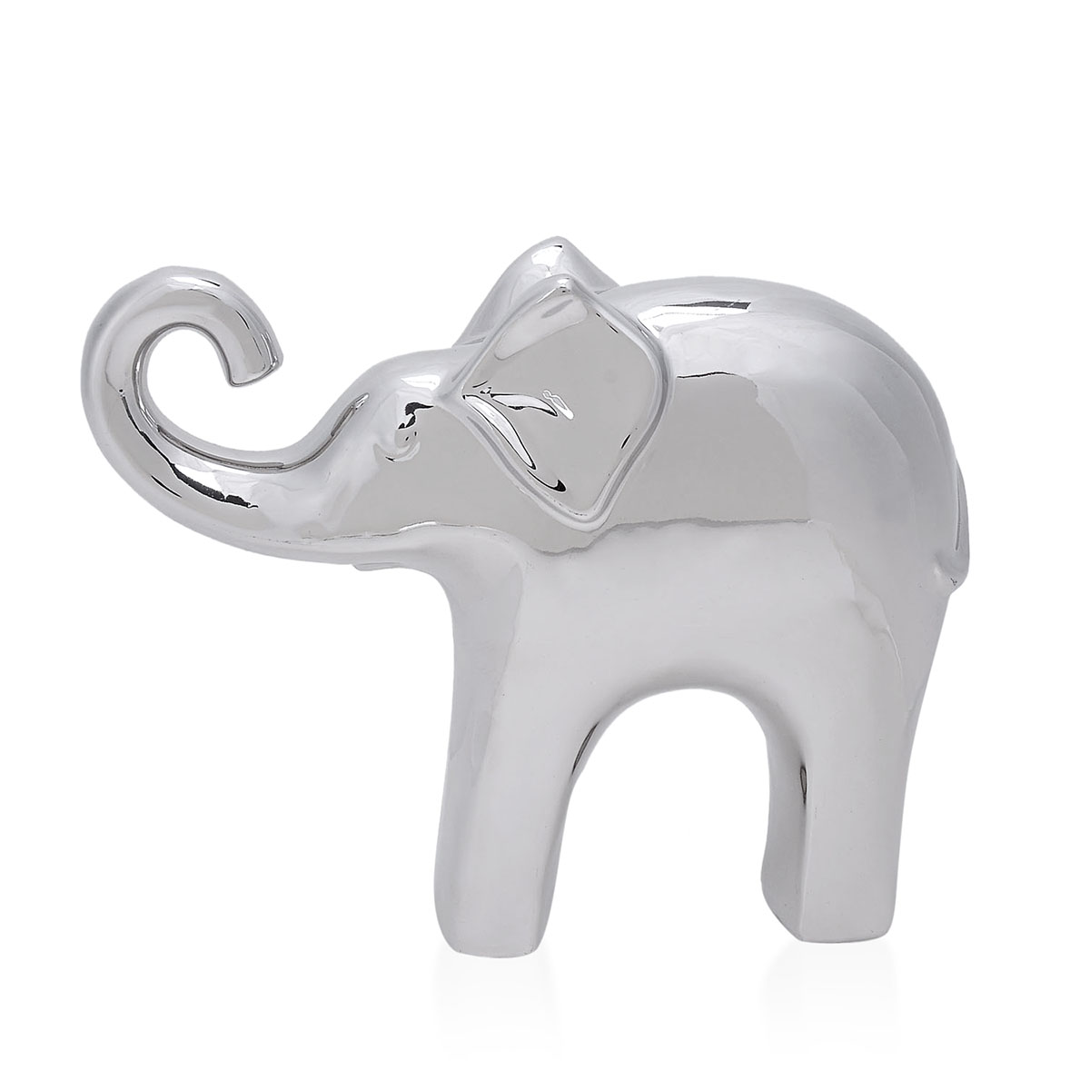 Home decor silver ceramic elephant 21x18x4 5 cm home decor accessories online store Silver elephant home decor