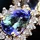 Bondi blue tanzanite lever back pear drop earrings.
