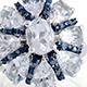 Espirito Santo aquamarine floral cluster ring.