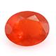 Jalisco fire opal oval shape gemstone.