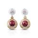Beautiful dangle earrings with Norwegian thulite.