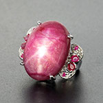 Kenyan star ruby ring in sterling silver.