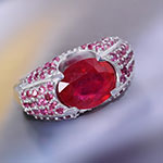 Niassa ruby fashion ring for women.
