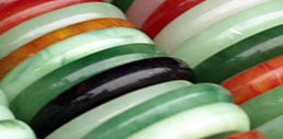 Jade bracelets in a variety of colors.