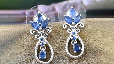 sapphire Earrings.