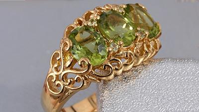 Peridot Ring.