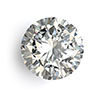 Round diamond April birthstone.